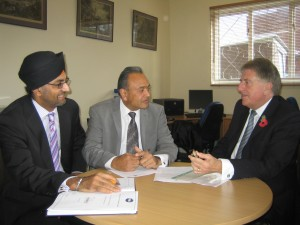 Mr Matharu, Mr Patel and Mr Evennett discuss community pharmacies