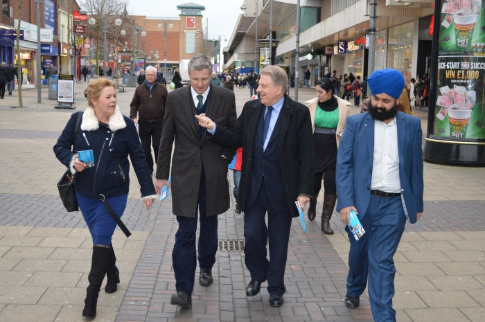 Zac Goldsmith campaigning in Bexleyheath Broadway