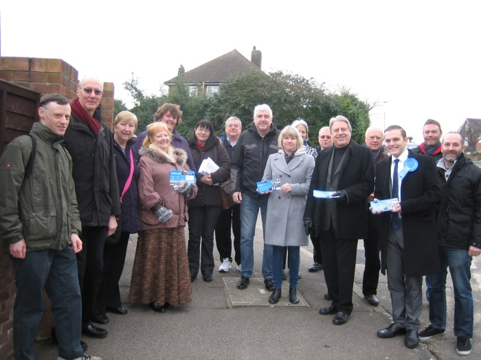 Campaigning in Christchurch for Zac Goldsmith