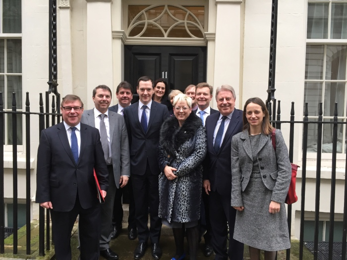 Pleased to meet with the Chancellor and colleagues at Number 11 today
