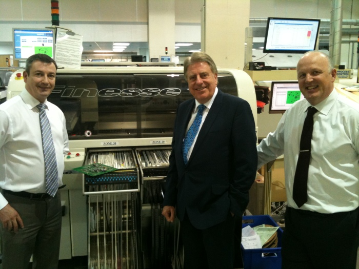 Mr Evennett with Andy Macleod and Peter Shawyer on his last visit