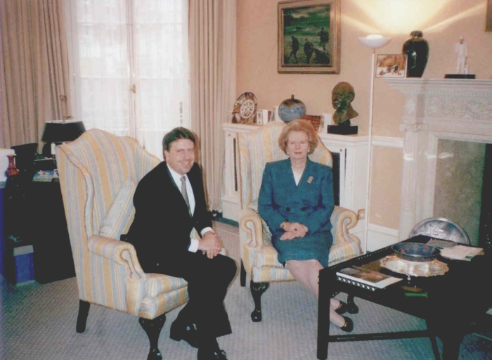 David and Margaret Thatcher 1990s