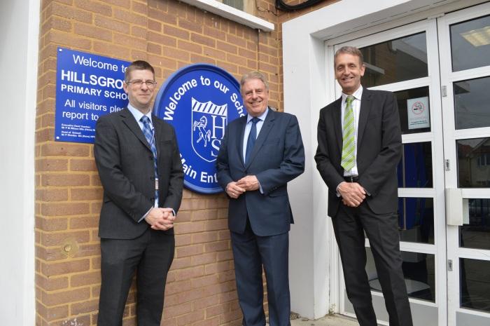 Peter Rhodes, David Evennett MP, Peter Wilson