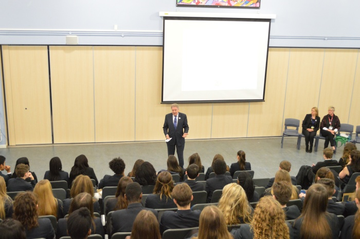 Speaking at Bexleyheath Academy