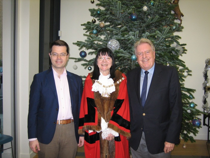 With Rt Hon James Brokenshire and Mayor of Bexley Cllr Eileen Pallen, at the Mayor's Christmas Carol Service in Bexleyheath