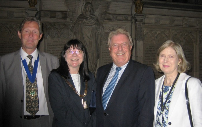 In Parliament with Marilyn meeting Mayor of Bexley, Cllr Eileen Pallen, and her husband Mark
