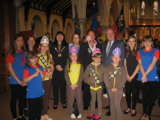 At the Bexleyheath Girl Guides Annual Rededication Service on Sunday 22 May
