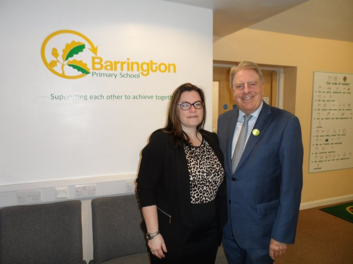 On a tour of Barrington Primary School with Headteacher, Claire Clark