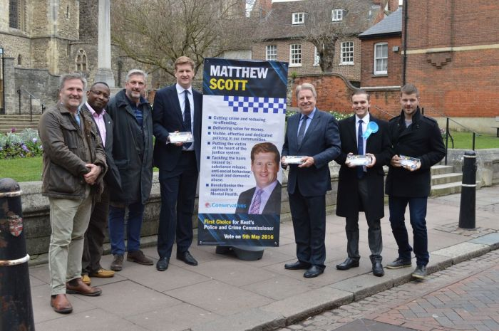 Campaigning in Rochester for Matthew Scott for the Kent PCC election