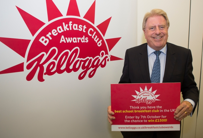 At the Kellogg's Breakfast Club Awards launch in Parliament
