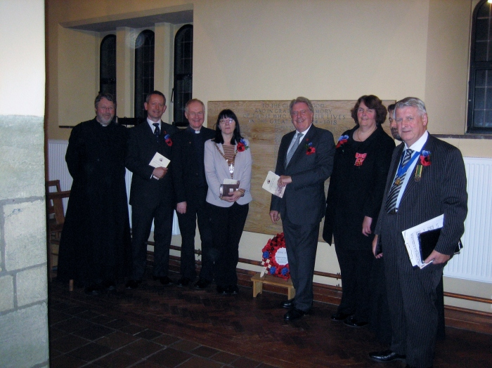 At St Michael's Church for the Festival of Remembrance organised by the East Wickham and Welling War Memorial Trust