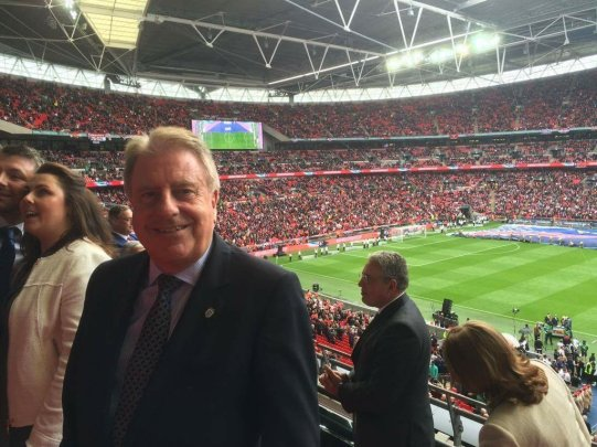 At the FA Cup Final (21 May) cheering on Palace