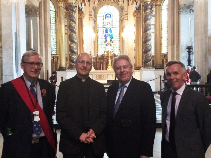 On a tour of St Paul's Cathedral as the Minister for Heritage and Tourism