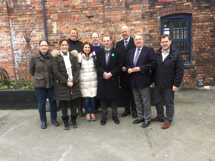 In Stoke with Parliamentary colleagues campaigning for Jack Brereton