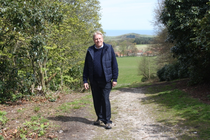 Walking in Sheringham Park and enjoying the beautiful Norfolk countryside on Sunday 1 May.
