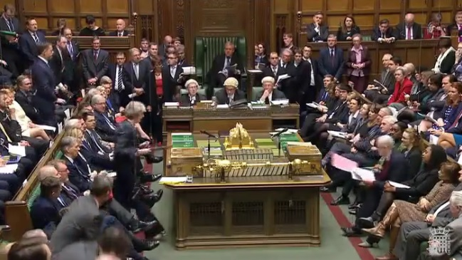 In the House of Commons Chamber for PMQs (© Parliamentary Recording Unit)