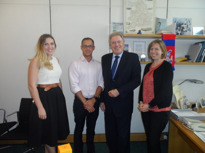 With Abbie, Philip and Rachel, who I have worked with for the past six months in my role as Acting Parliamentary Under Secretary of State for Sport, Tourism and Heritage