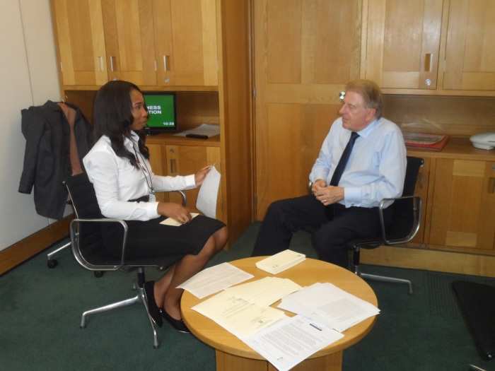 With Chimere, a student at Townley Grammar School, during her work experience in Parliament