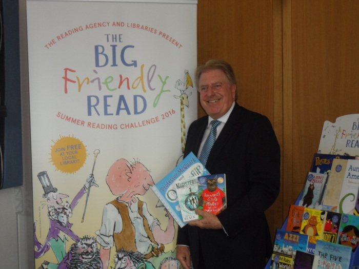 At The Reading Agency's drop-in reception in Parliament for the Summer Reading Challenge