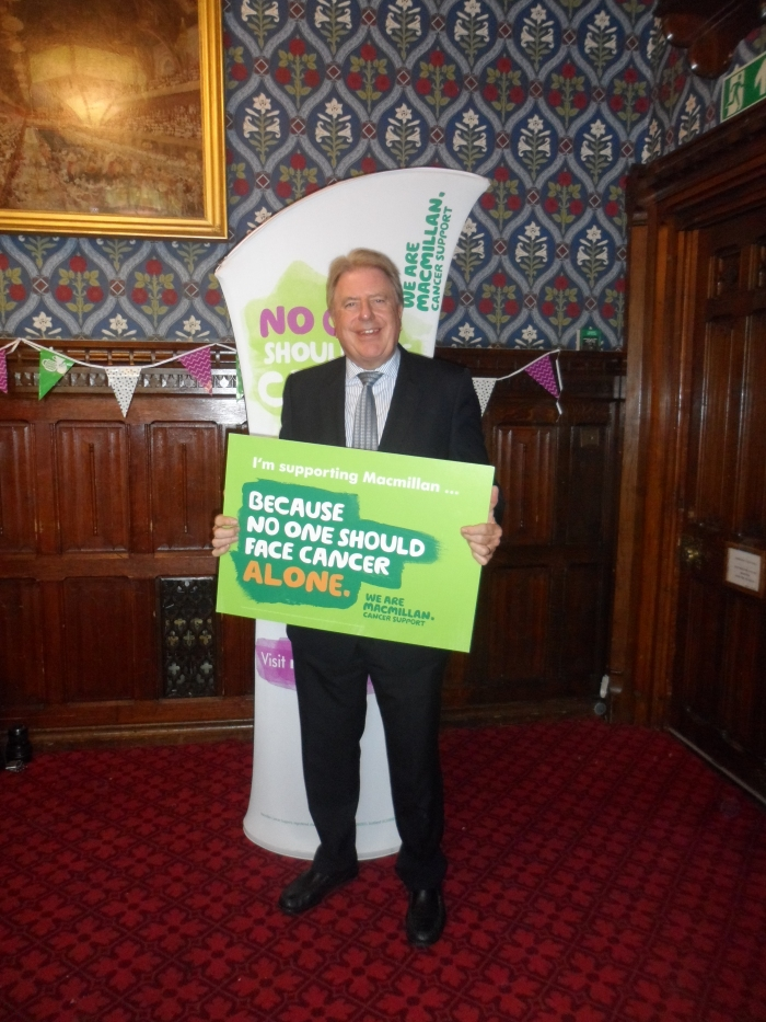 Supporting Macmillan at coffee morning in Parliament