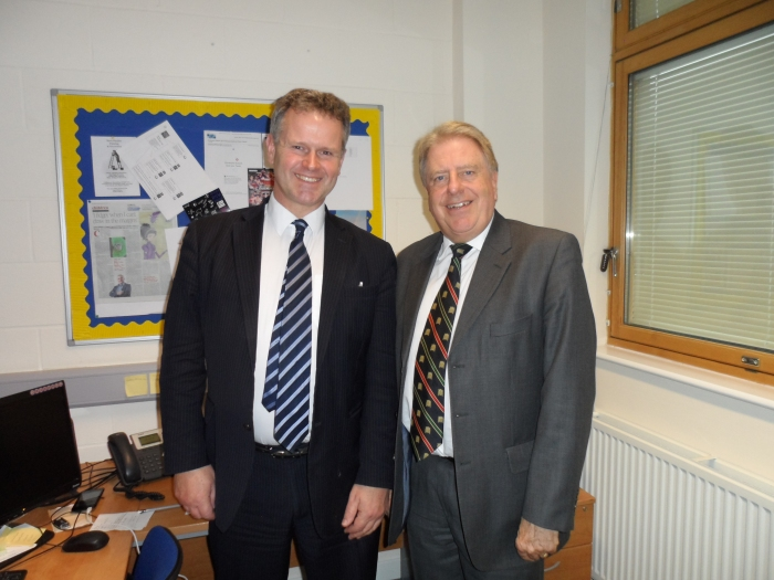 Meeting Mark Pinchin, Principal at Bexleyheath Academy, to discuss the progress of the school