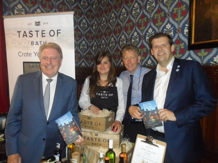 At the Bath Food Showcase in Westminster, which was hosted by Ben Howlett MP