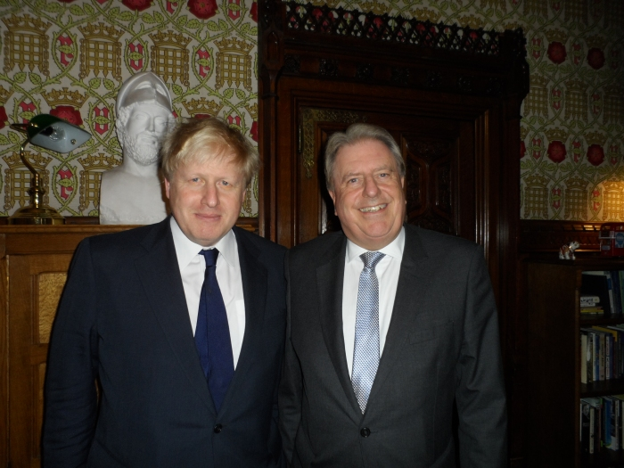 With the Foreign Secretary, Rt Hon Boris Johnson