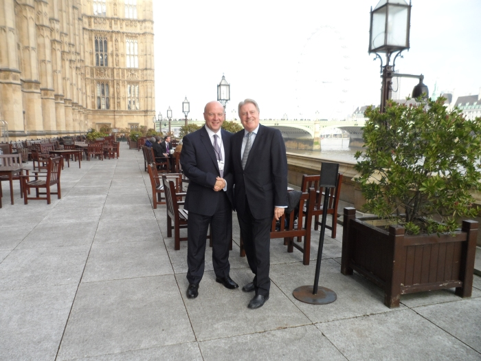 With friend and supporter, Dean Gardiner, in Parliament for lunch