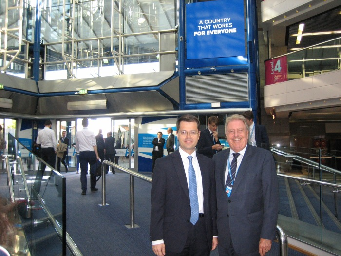 With friend, colleague and Secretary of State, Rt Hon James Brokenshire MP at the Party Conference