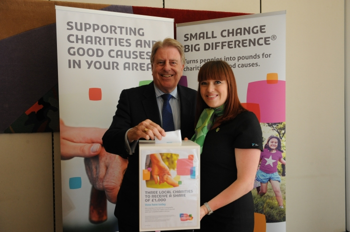 Casting the official first vote for the Charity Choices Campaign, supported by Yorkshire Building Society Charitable Foundation.