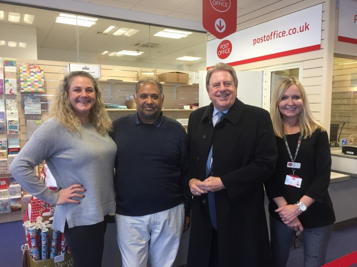 Crayford Post Office visit December 2017