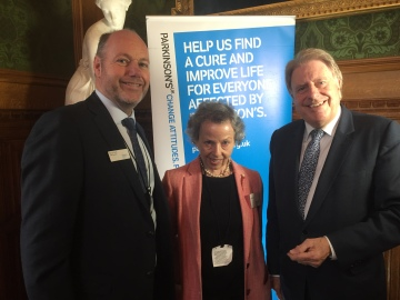 Parkinsons UK Reception December 2017 with CEO Steve Ford and Jessica Mann.JPG