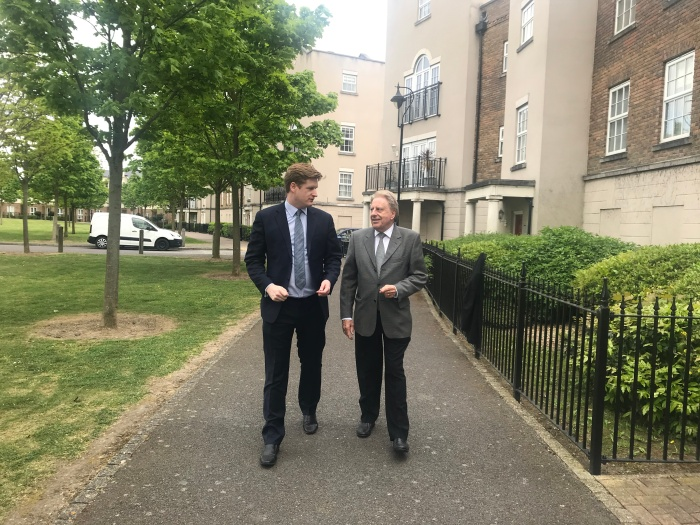 Campaigning Dartford May 2019 with Matt Scott