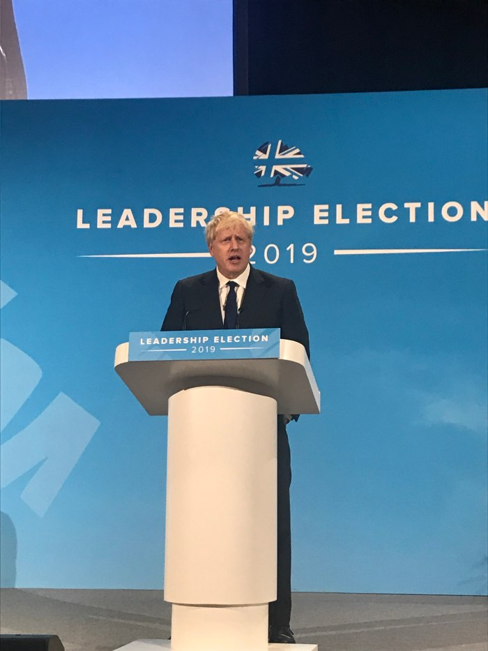 Boris at London Hustings 17 July 2019