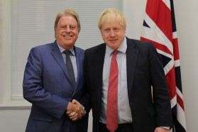 David Evennett and Boris Johnson